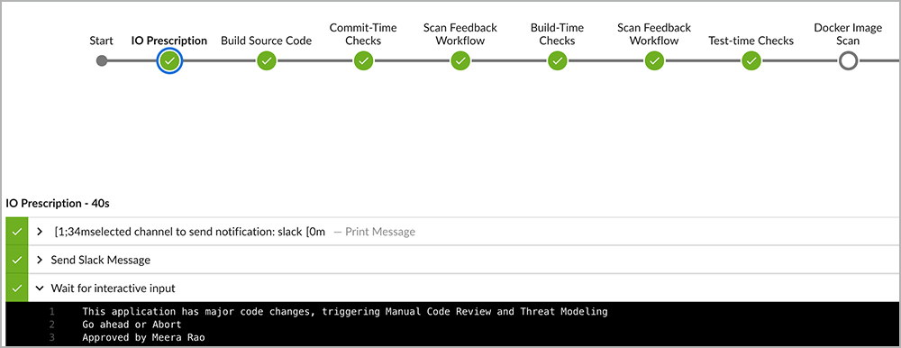 Intelligent Orchestration pipeline triggers manual code review for major release   Synopsys