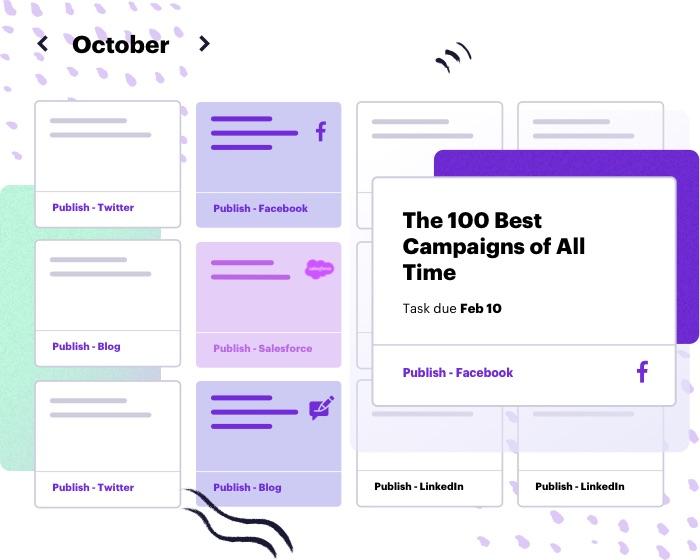 content marketing calendar