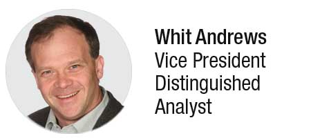 Whit Andrews vice president distinguished analyst at Gartner