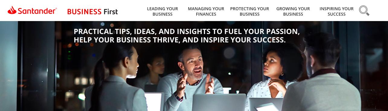 Santander-business-first-content-hub
