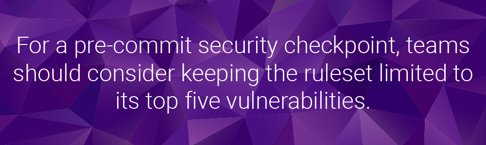 security checkpoint rulset | Synopsys