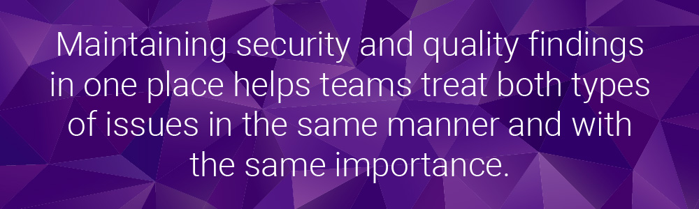 Security and quality findings | Synopsys