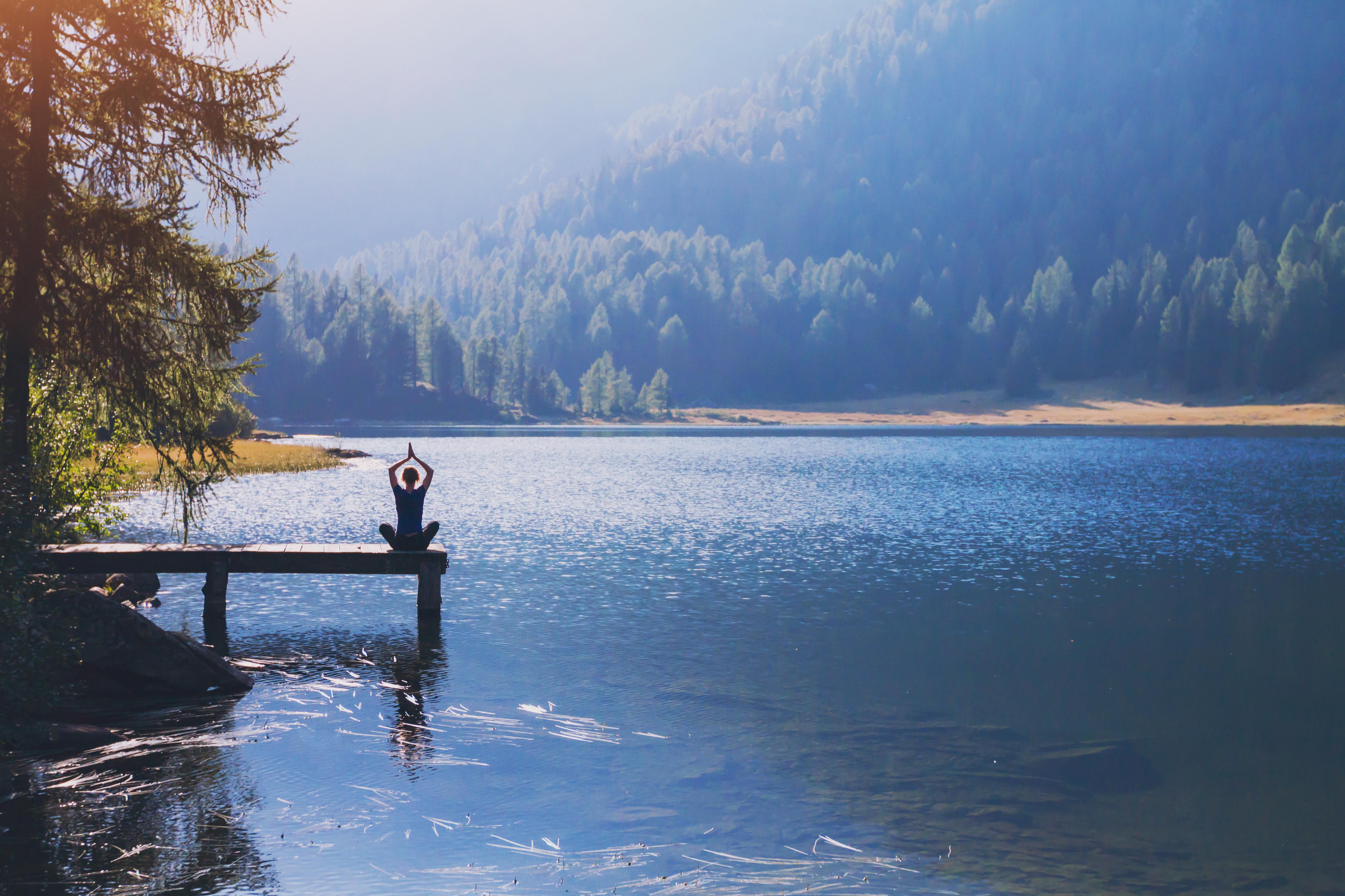 yoga beautiful background, harmony in life, meditation practice