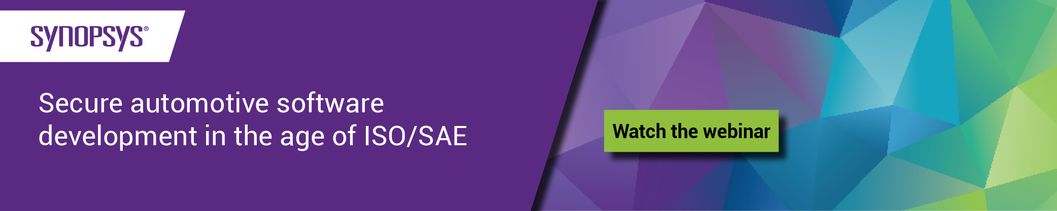 webinar: Secure automotive software development in the age of ISO/SAE 21434 | Synopsys