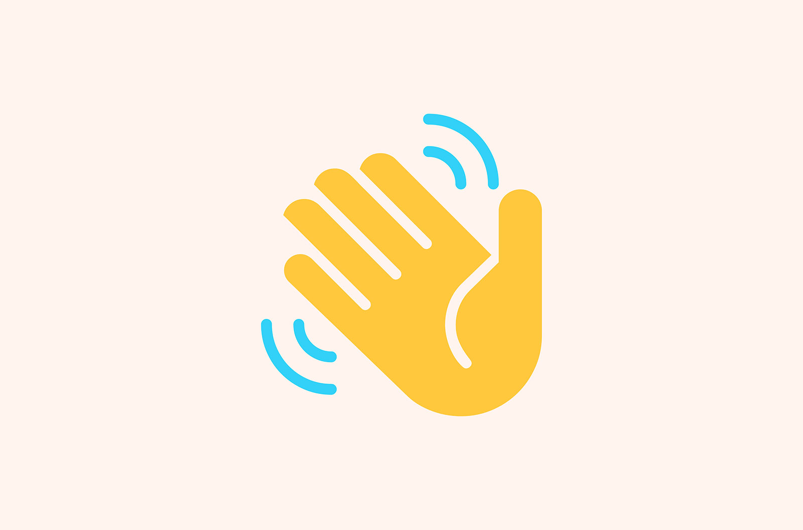 Vector icon of a waving hand