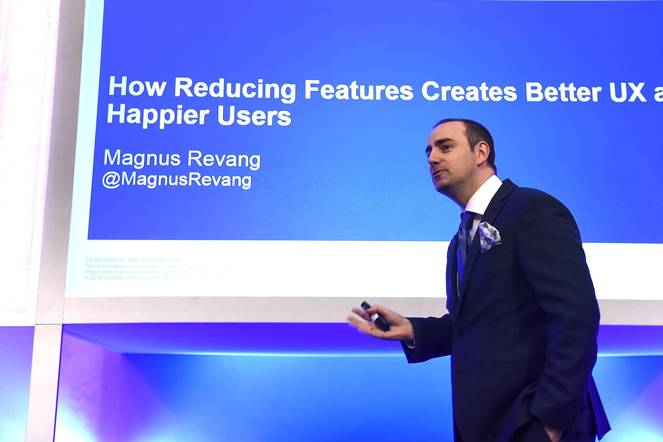 Gartner research director Magnus Revang explains 'Featuritis'
