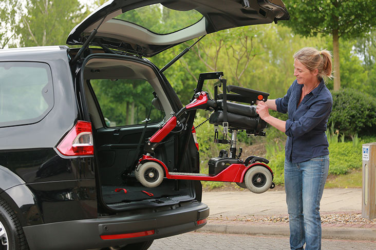 Scooters and wheelchairs should fit neatly into your car boot