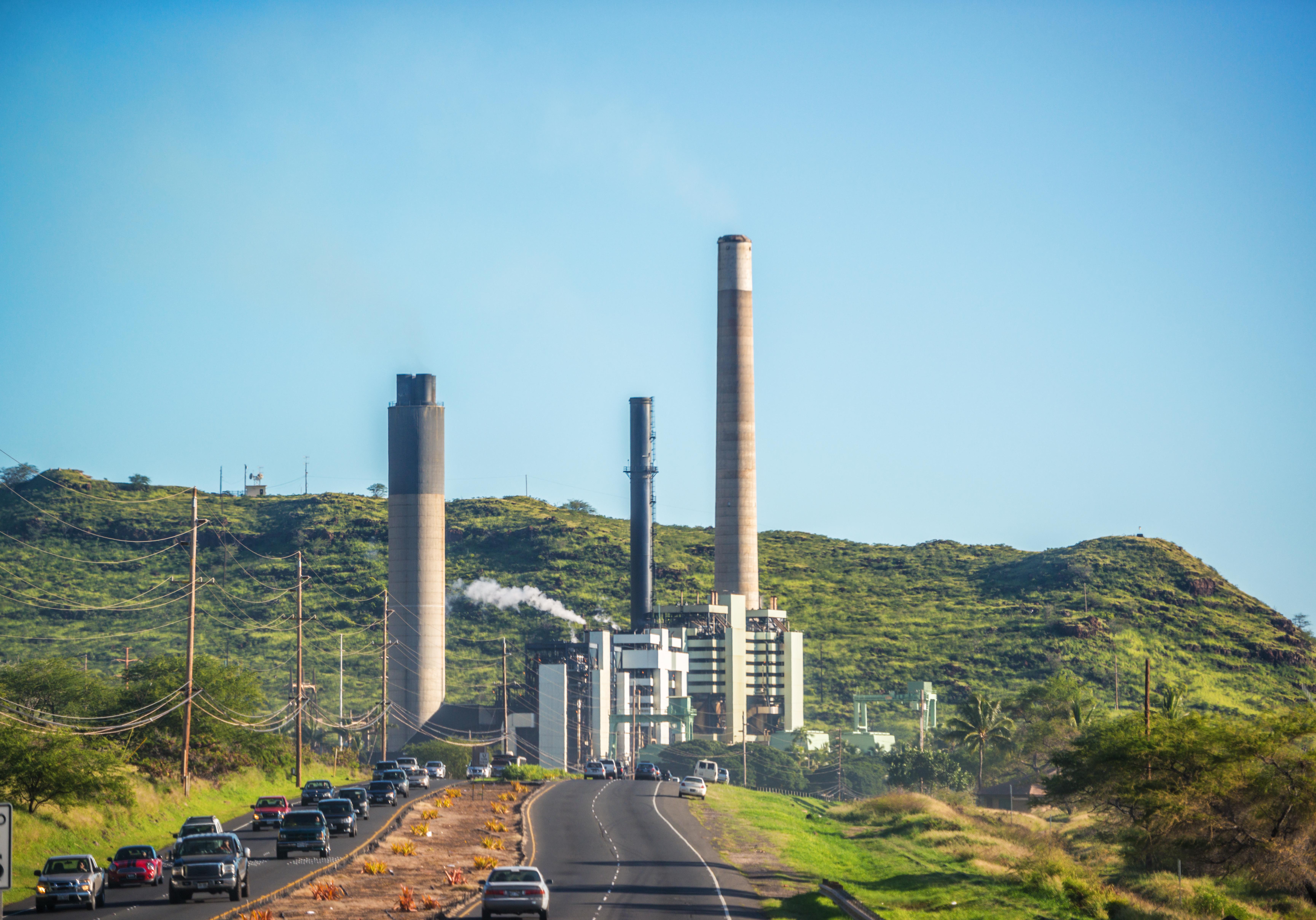 Power Plant at Kahe Point, Oahu West Coast, Hawaii