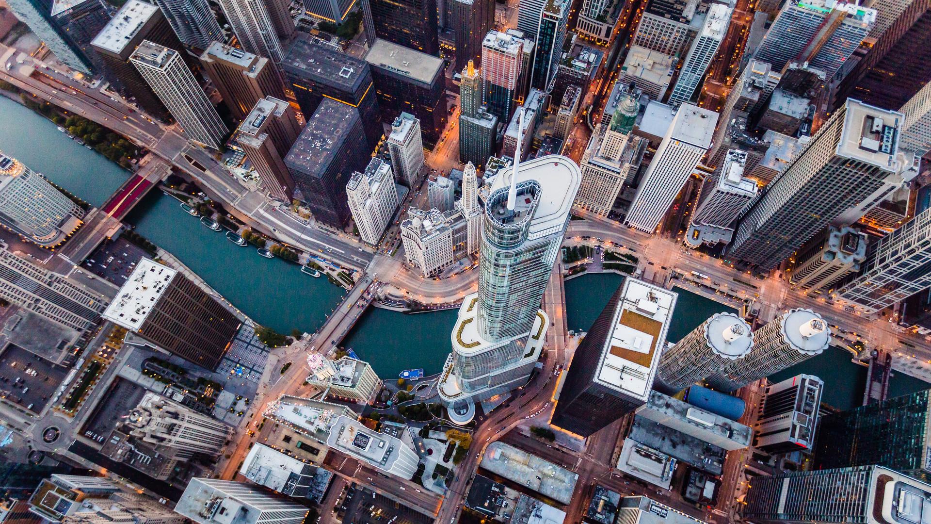 Trump Tower Chicago Aerial