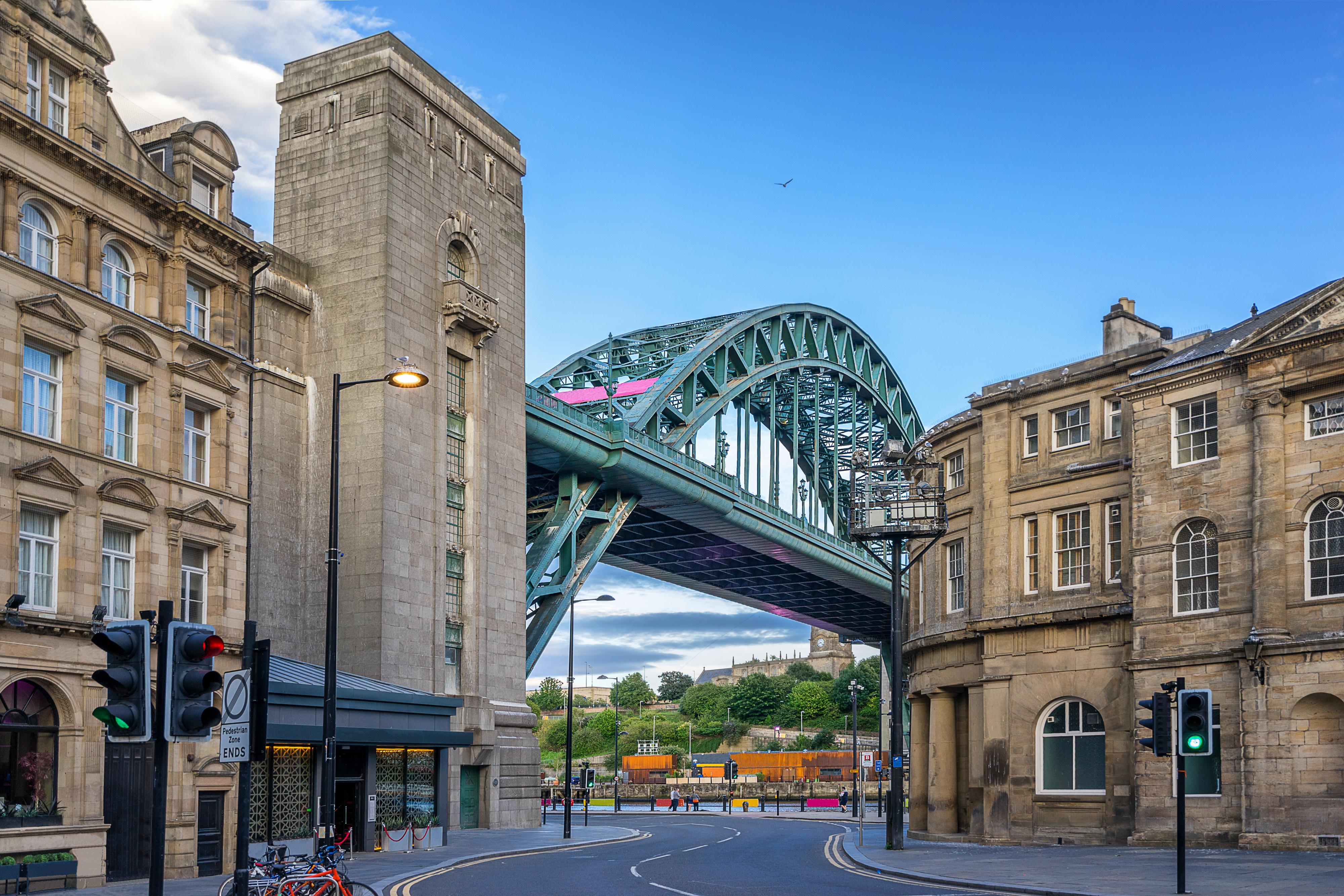 The Tyne Bridge across the river Tyne in Newcastle