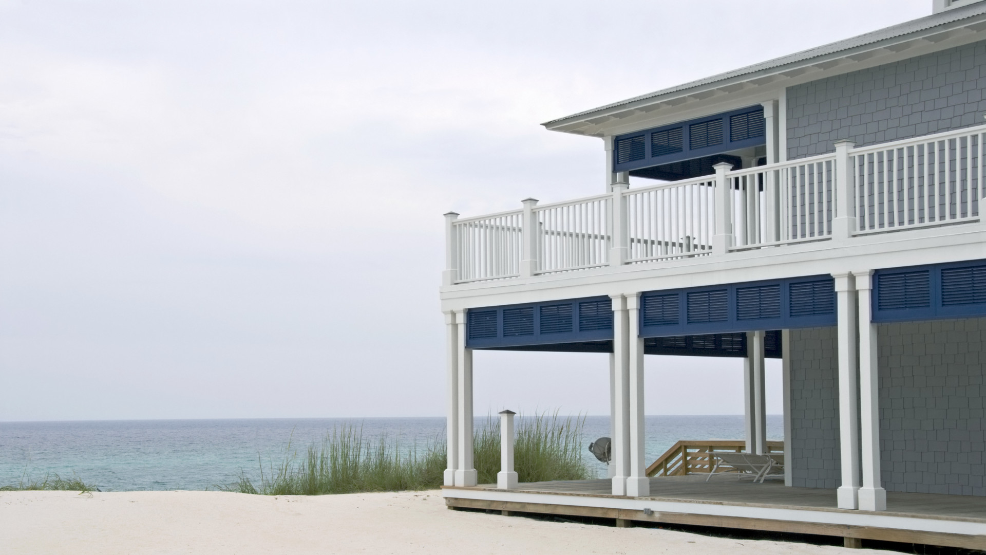 Two story beach house overlooking the Gulf of Mexico