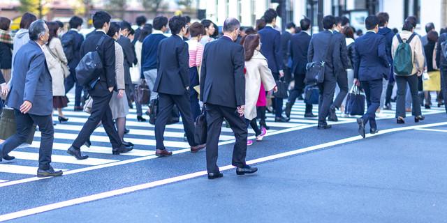 business man walking on the street