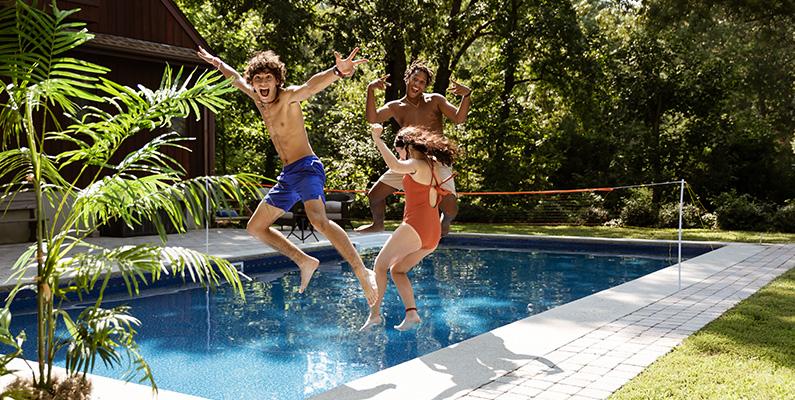 Custom Content - Teens swimming in pool
