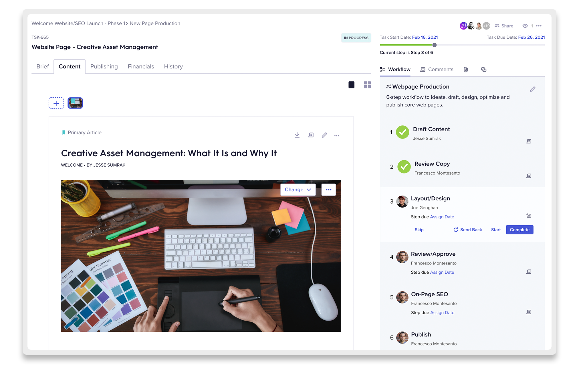 Welcome Content Workflow