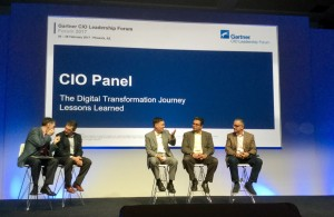 Image of CIOs at the Gartner CIO forum