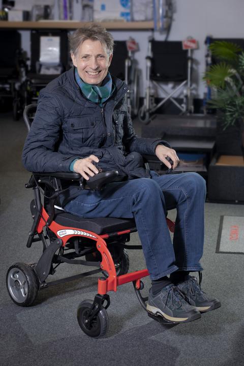 Monarch Carbon Lite powered wheelchair