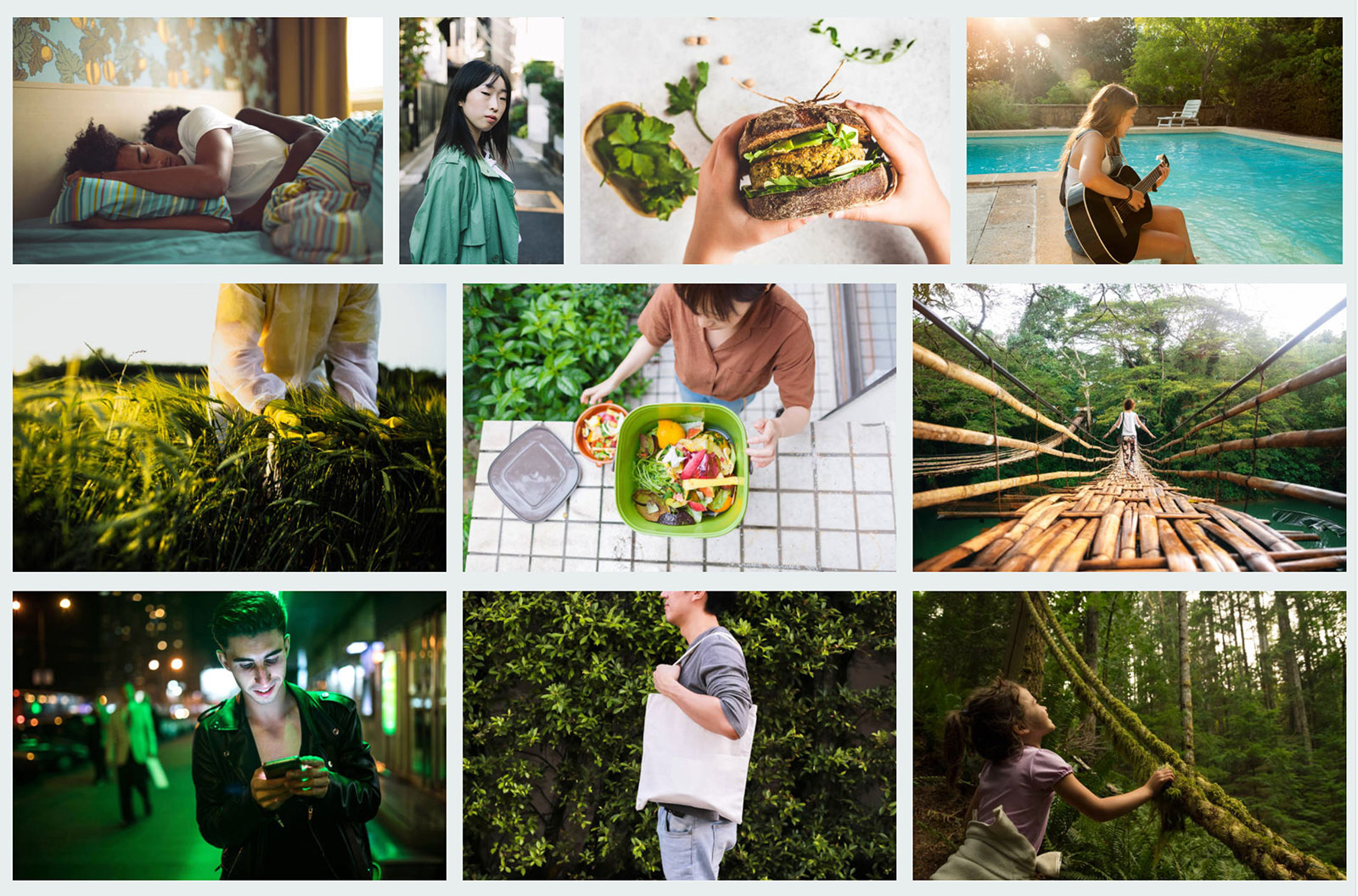 iStock curated board themed around the color green