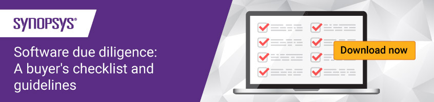 Software due diligence checklist and guidelines | Synopsys