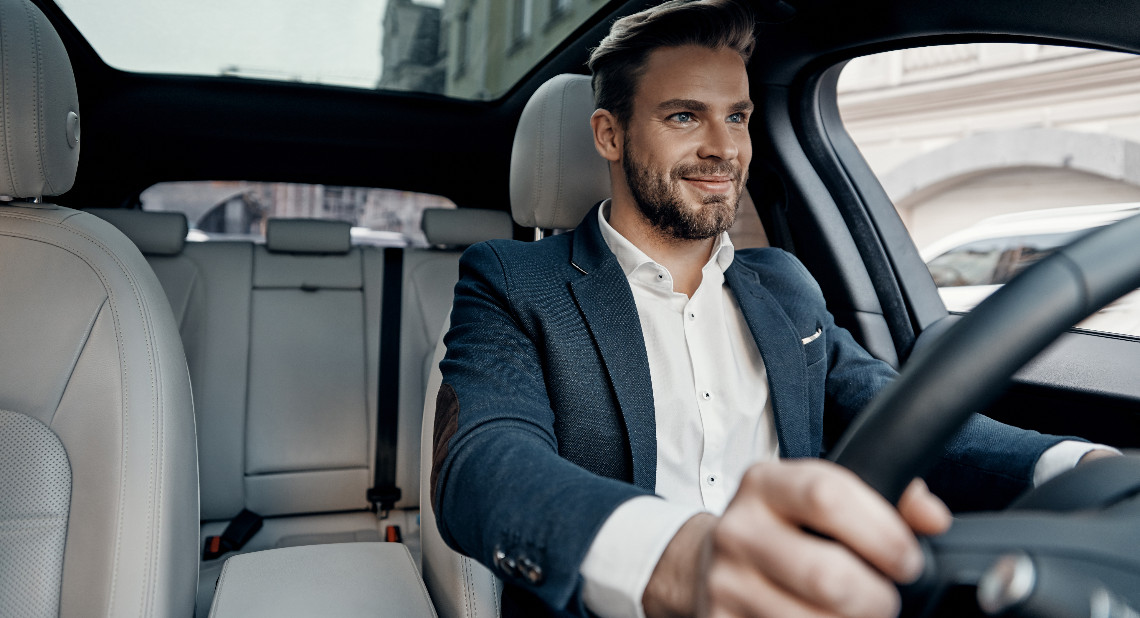Man in driving seat