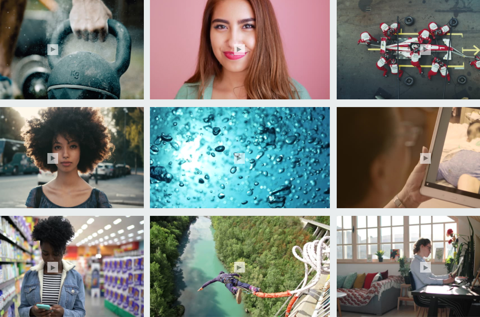 """Collage of iStock's """"Signature Videos We Love"""" collection"""