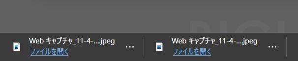 ブラウザからファイルがダウンロードされる