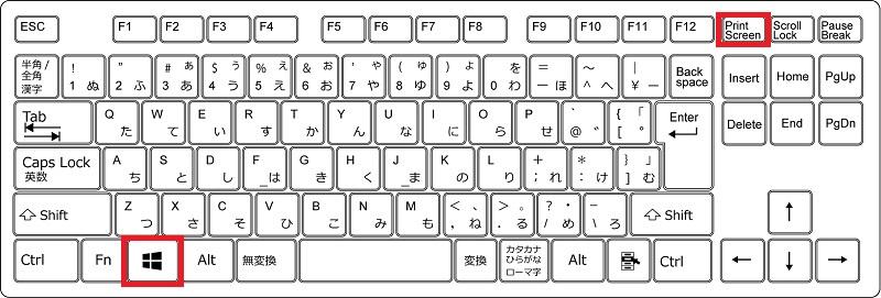 全画面のスクリーンショットを保存するショートカットキー(Windows)