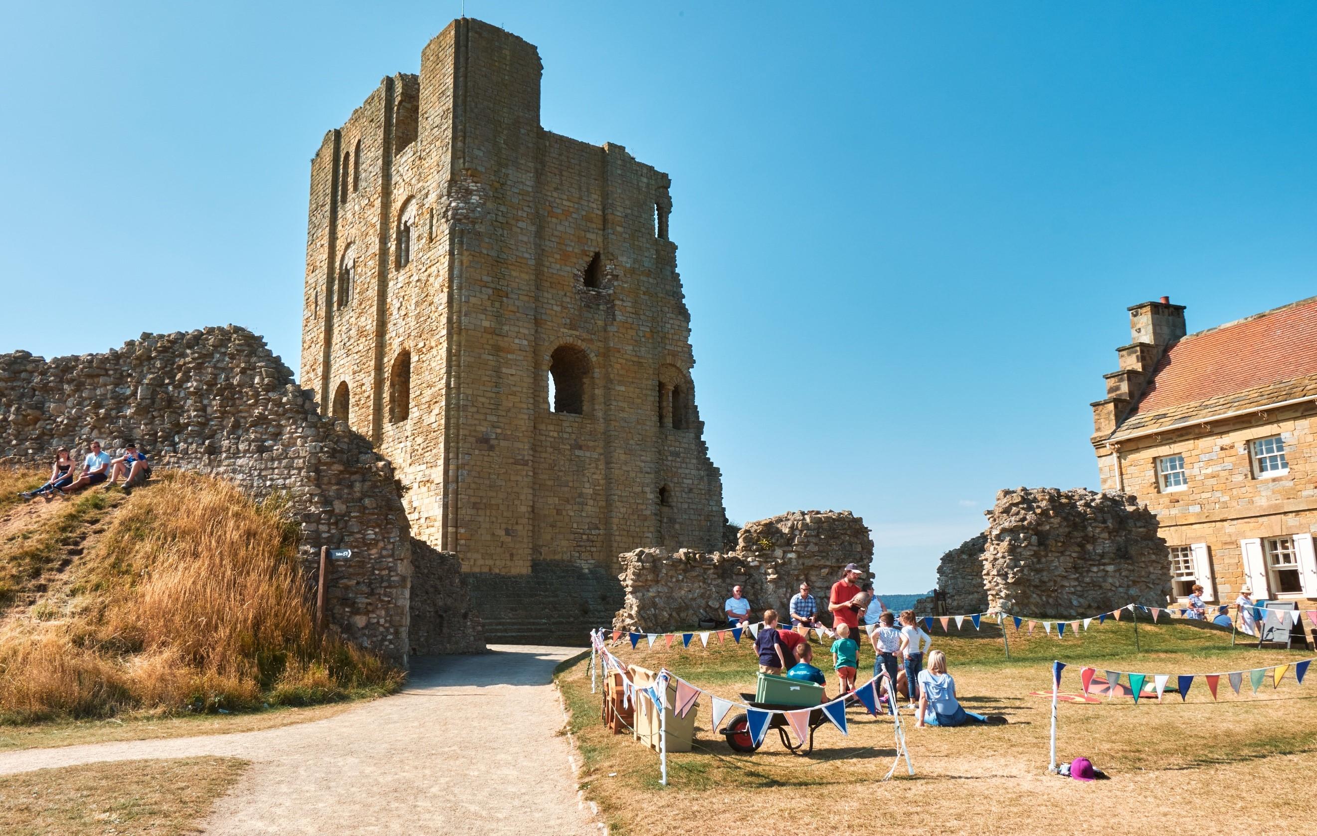 Dog walkers visit Scarborough Castle